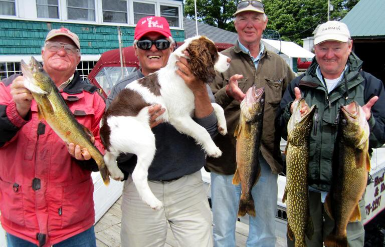 "The ""Master"" himself-Capt. Bill Saiff Jr. w/ Mark McQuown (GARMIN electronics) with some dandy Walleye and Pike!"