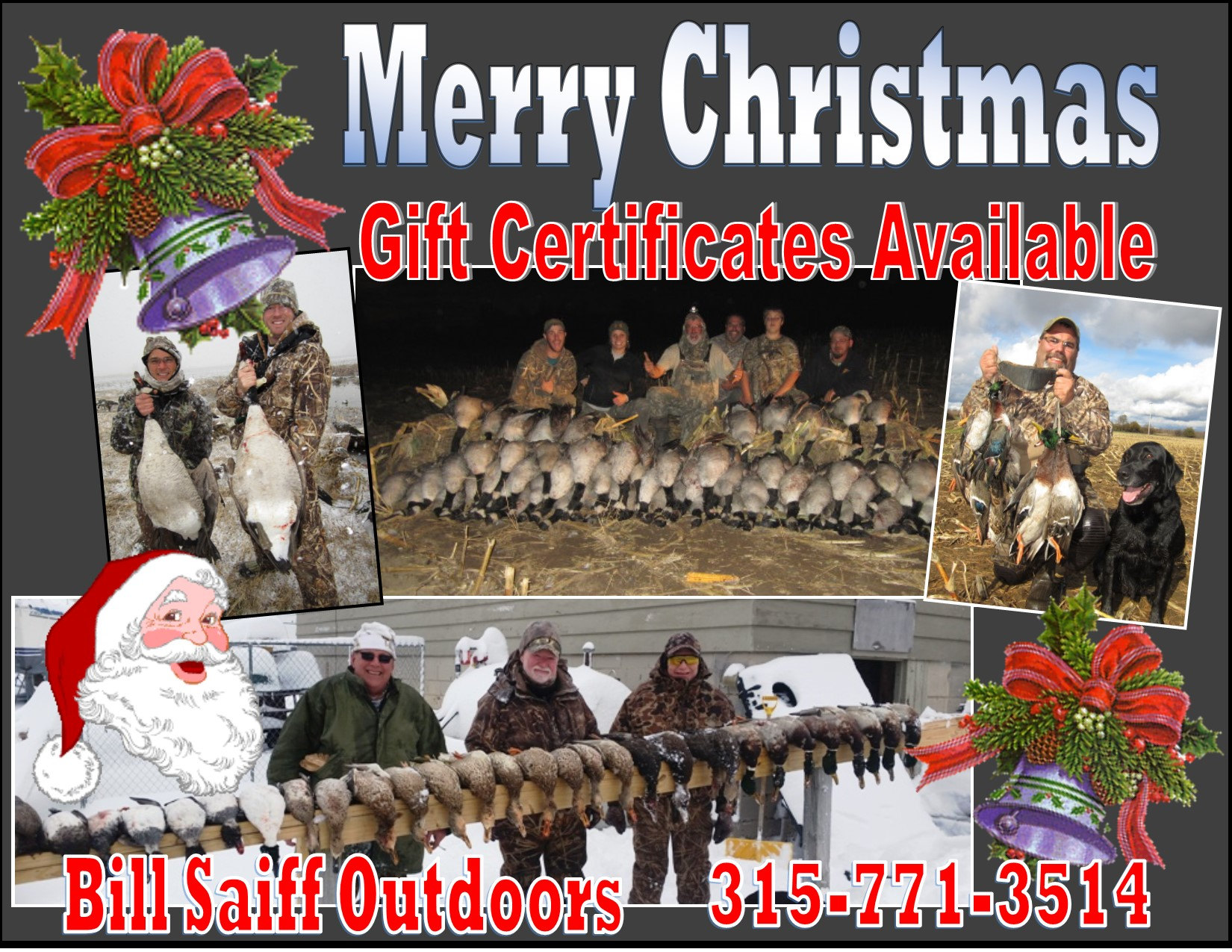 christmas gift certificates available now buy the best gift christmas gift certificate hunting ad 2016 150